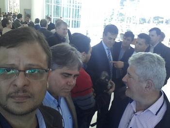 Evento no Palácio Iguaçu, ao Fundo Governador Beto Richa